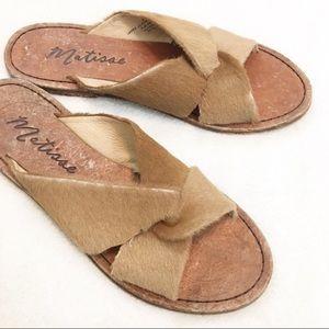 Matisse Alamosa Calf Hair Leather Crossover Sandal